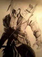 Assassin's Creed  3: Connor (sketch) by Lukitzo