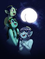Three Kappa Moon by humon