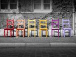 Rainbow Chairs by DonKirin