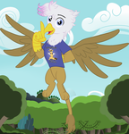 Griffon OC: Simple Background by Edowaado