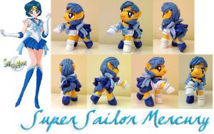 MLPFIM Super Sailor Mercury McDonald's custom pony by omgwtflols