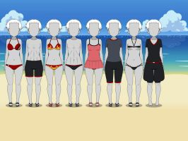 F.C. #15 Summer Outfits by MechaSamurai
