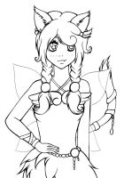 - FREE LINEART - Ciel by Elythe