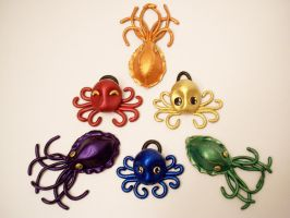 More  Cephalopod Pendants by KimsButterflyGarden
