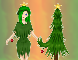 The Christmas Marimo and the Christmas Tree by Jenny-Winter