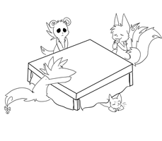 New years eve 2010 WIP by Inukage-Okami