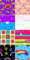 Rainbow Pattern Set by kvaughnp3