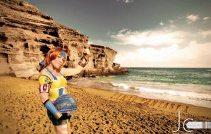 Final Fantasy 10 - A Beach Day with Sexy Wakka by Nayias01