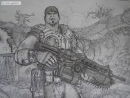 Gears of War 3: Marcus Fenix by AxeMan5
