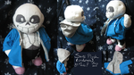 Undertale Sans Plush by ManicDraconis