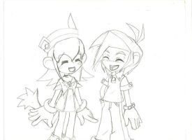 Tomo and Lolo Laughing by peridive78