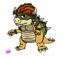 Bowser (Shaded) by uhnevermind