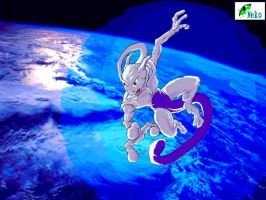 Mewtwo in space by Blue-Uncia