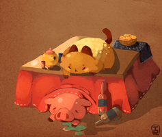 Bread Cat And Pig c: by Teatime-Rabbit
