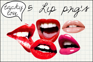 LIPS PNG'S by TackyLove