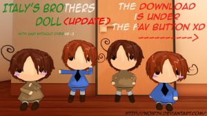 Hetalia MMD_Italy brothers Dolls DL by Noir74