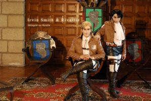 Commander Erwin and Corporal Rivaille by Hikari-Kanda