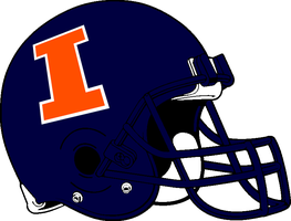 Illinois Blue alternate helmet 2012 by Chenglor55