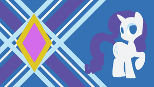 Rarity's Generosity Minimalist Wallpaper by Narflarg