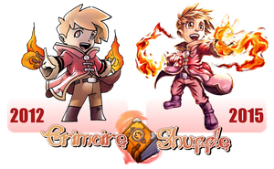 Grimmoire Shuffle - Red 2012-2015 comparison by FontesMakua
