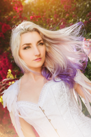 Silver and Purple Ombre Hair by Lillyxandra