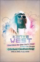Kanye West Global Poster by SaintMichael