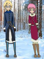 Seasons of War-Jeremie and Aelita-Winter by LynaKiovote