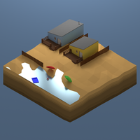 Beach Lowpoly Render by Ronin-kin