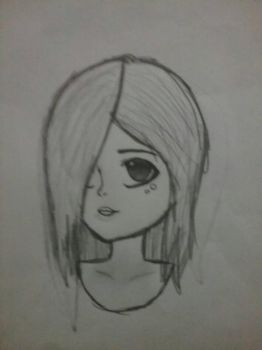 a drawing of  a girl  i did by nice-girl-xoxox
