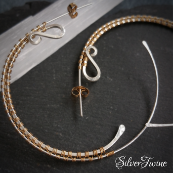 Gold and Silver Hoops by SilverTwine