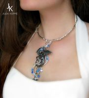 Water dragon necklace by JSjewelry