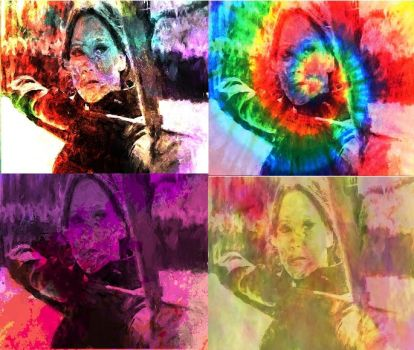 Katniss Everdeen In Pop Art-3 by freddie64