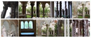 Cloister Pack II Columns by morana-stock