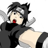 Sasuke attacking colored by rambo1139