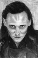 Loki (Tom Hiddleston) by sarcazmatic
