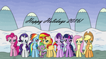 MLP: Holiday Photo by EmeraldBlast63