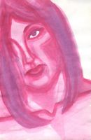 Pink Face in Watercolor by golddew