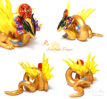 Ra, Sun Spirit Dragon 2 by rosepeonie