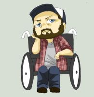 Bobby singer chibi by Supernatural-Fox