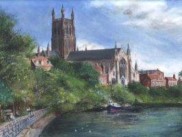 Worcester Cathedral by dashinvaine