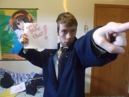 My Phoenix Wright Cosplay # 2: Take that! by AndroidX92