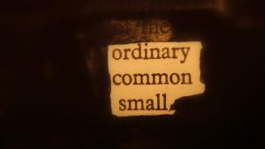 ordinary, common, small by ink-in-the-doorway