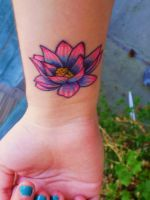 Lotus Flower Tattoo by harpsichordtunes