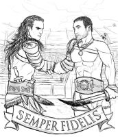 Gannicus and Spartacus Tattoo 01 by Vladsnake