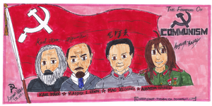 Marx, Lenin, Mao, and Harel by VERGANZA-DE-SASUKE