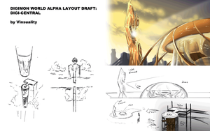 Digimon World Alpha - Digi-Central layout draft by Vinsuality