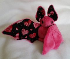 Custom Love Bat Plush Commission by Lunarchik13