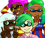 Four Man Squid by Flame-Eliwood