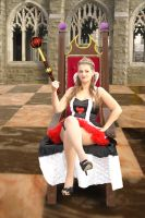 Queen of Hearts sitting by Shawn-Saylor