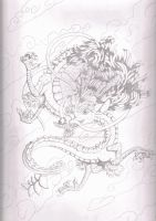 Dragon Pencil Illustration by Animator-who-Draws